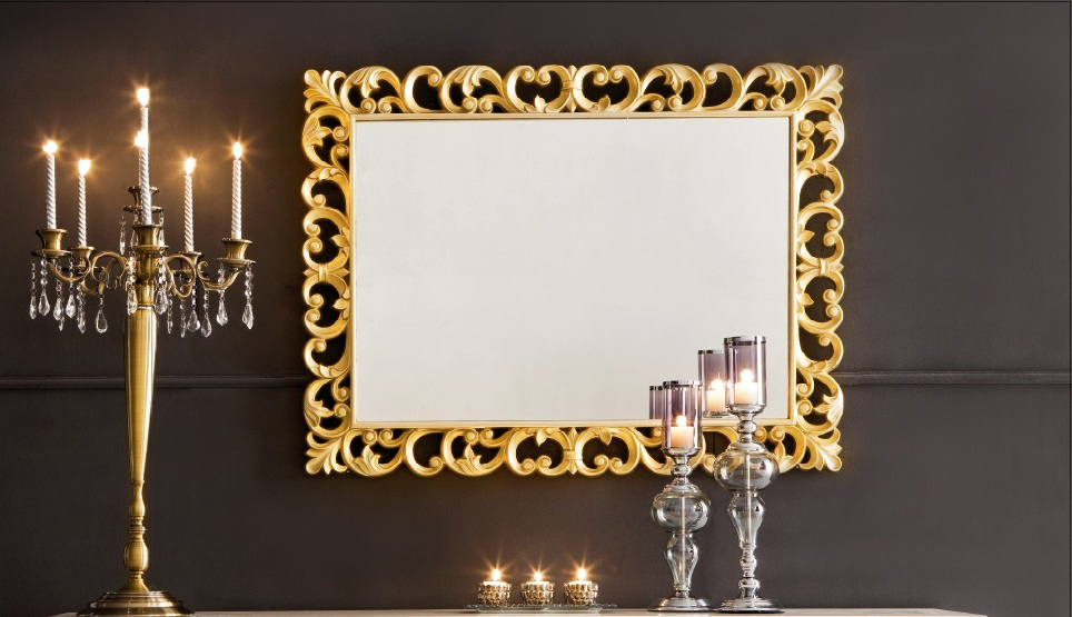 Decorative wall mirror large wall mirror dorvall for Mirror decor