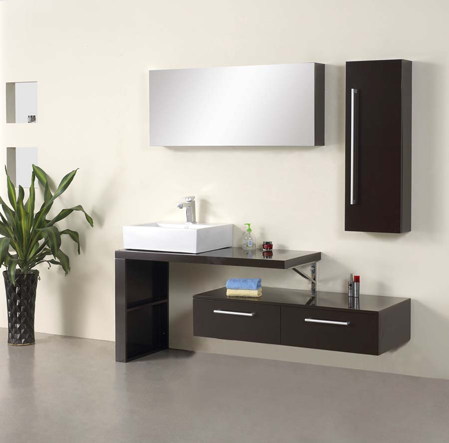 Amazing Single Bathroom Vanities Nanto Modern Bathroom Vanity Set 35 4