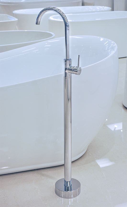 Click To See Larger Image · Cagliari Freestanding Bathtub Faucet Polished  Chrome