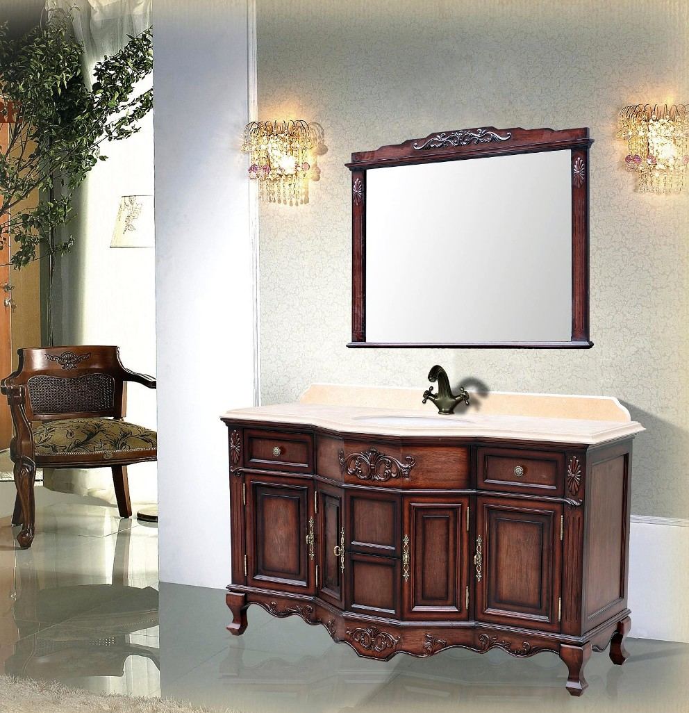 Montage Antique Style Single Sink Vanity 59quot;