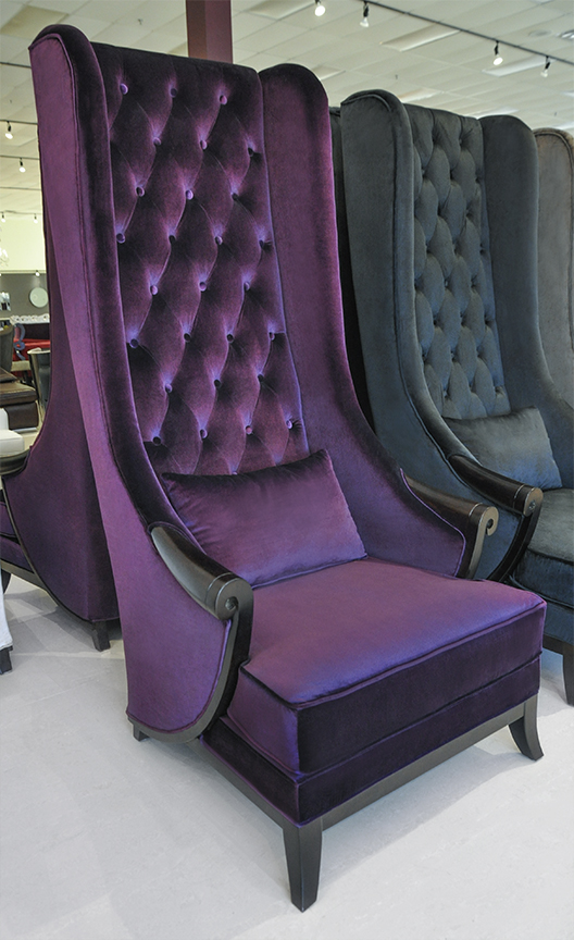 High Back Wing Chair Duchess Purple : High Back Chair Duchess T01 18 Purple 2 from theinteriorgallery.com size 528 x 864 jpeg 345kB