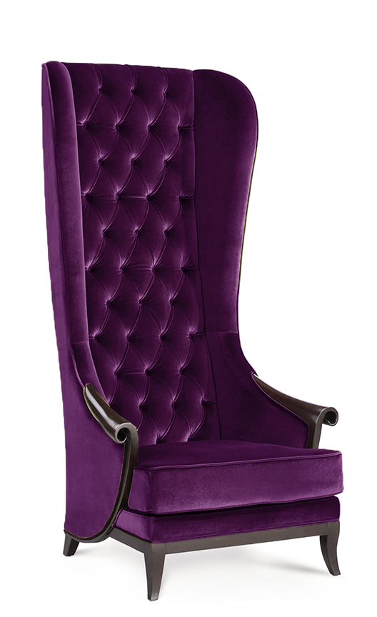 Purple High Back Chair High Back Wing Chair Duchess Purple