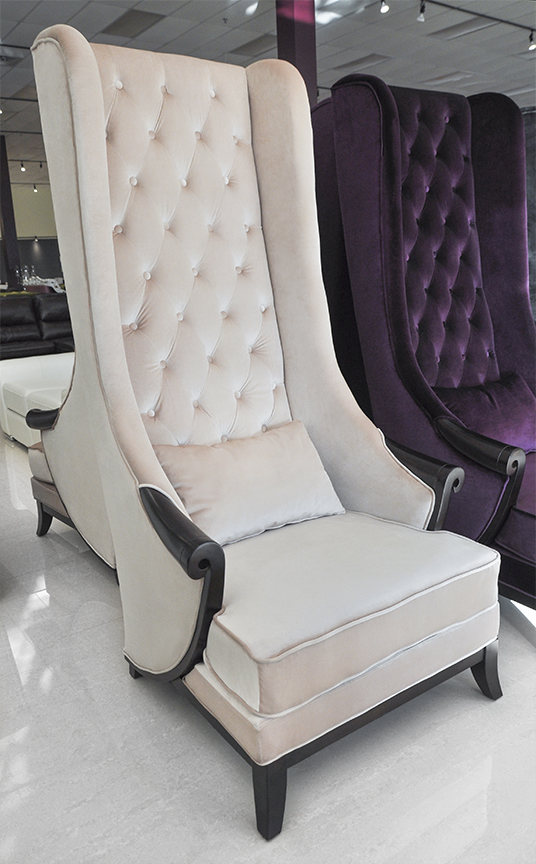 Click To See Larger Image High Back Wing Chair