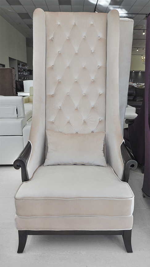 High Back Wing Chair - Duchess Beige