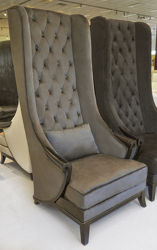 High Back Wing Chair Duchess Light Brown