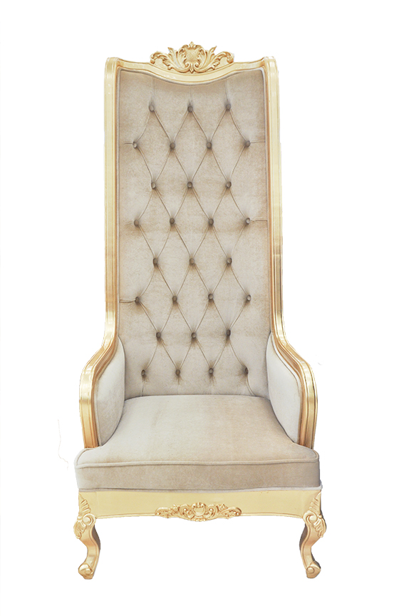 High Back Chair King Throne Beige : High Back Chair Vivian Beige 21 from www.theinteriorgallery.com size 574 x 864 jpeg 243kB