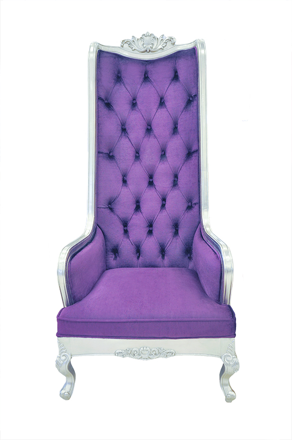 Exceptionnel Click To See Larger Image. High Back Chair   King Throne Purple