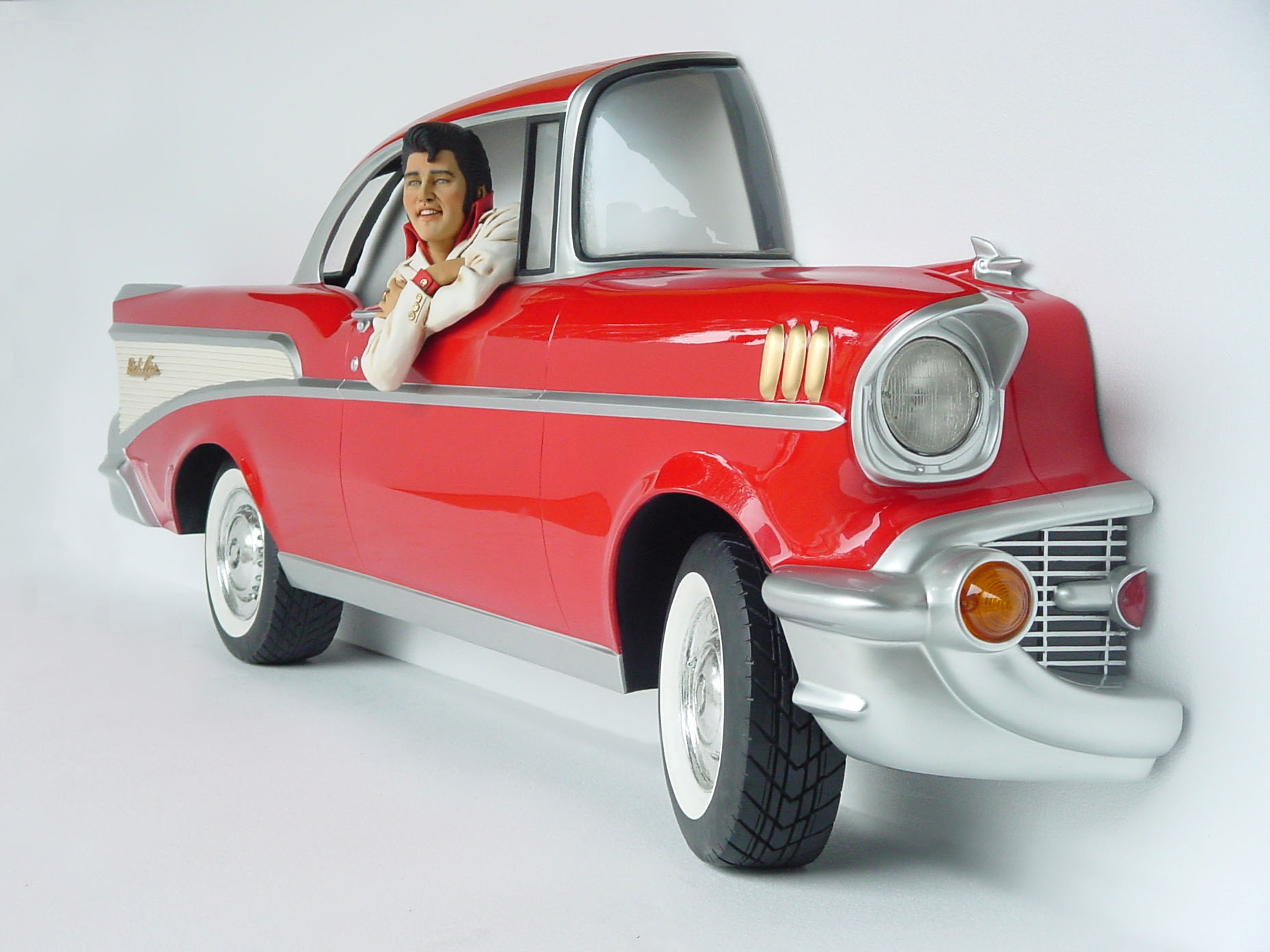 Name: Red Chevy Car Wall Decor ...