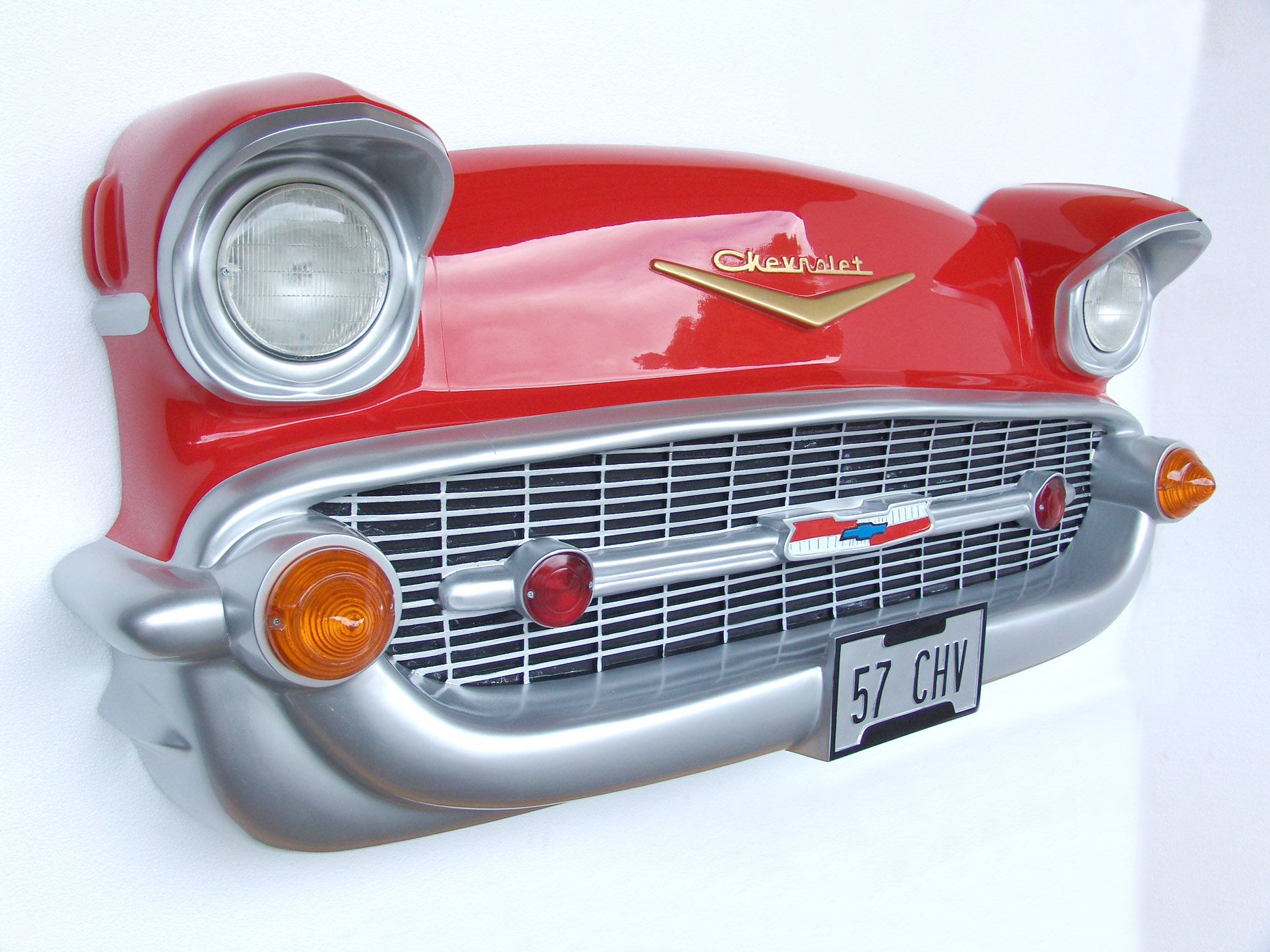 57 chevy front wall decor for Automobile decoration accessories