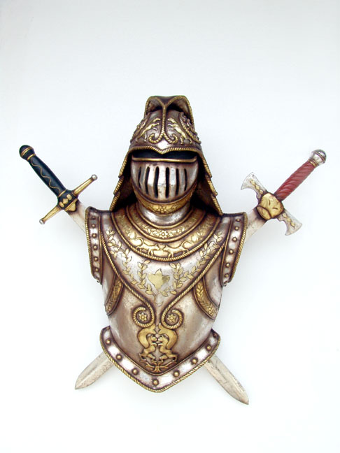 16th century armor with sword wall decor for Armor decoration