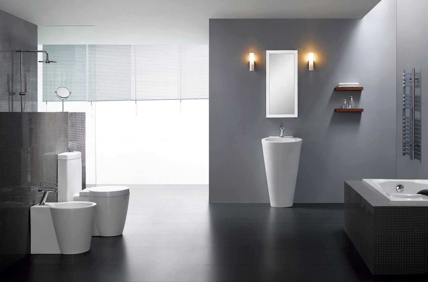 Black Dual Flush Toilet