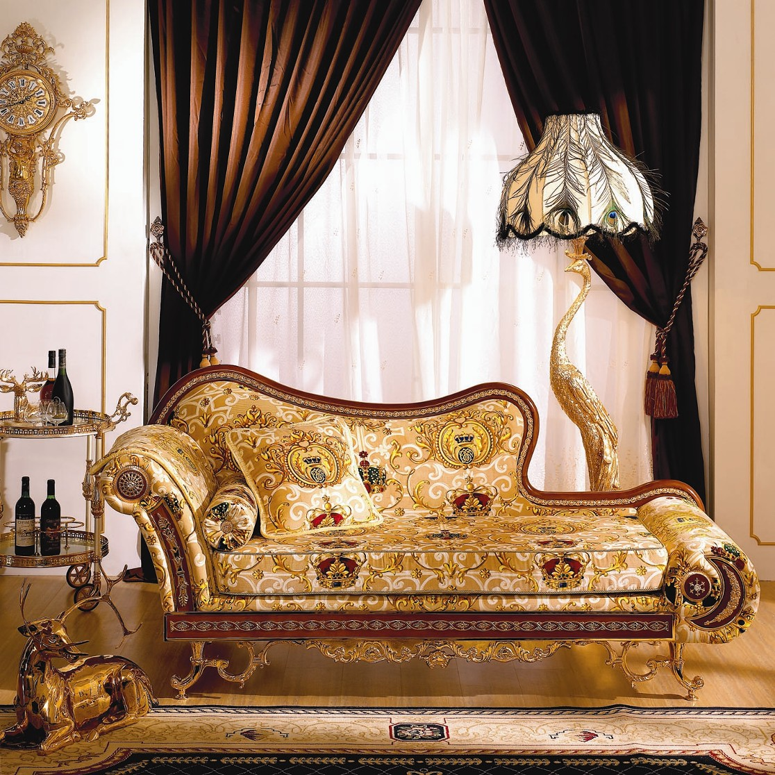 Elegant Golden Sofa