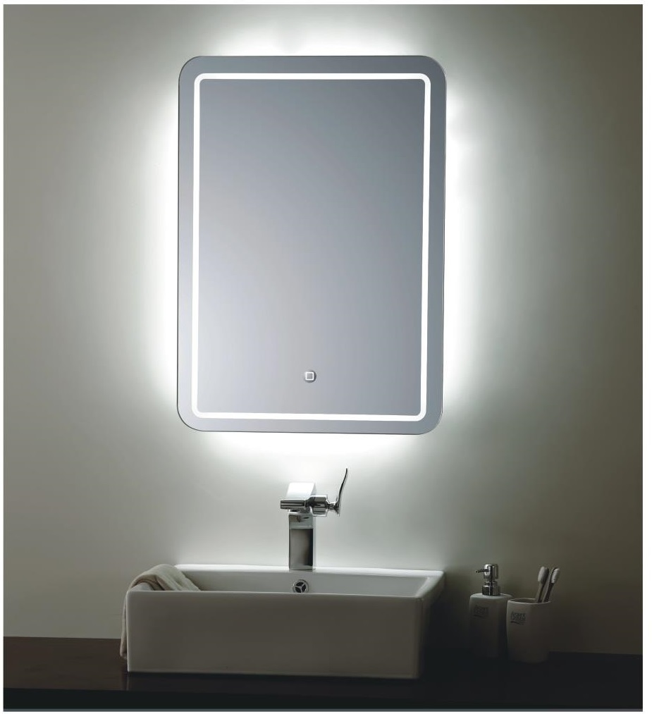 Backlit mirror led bathroom mirror bellagio for Bathroom mirror with lights