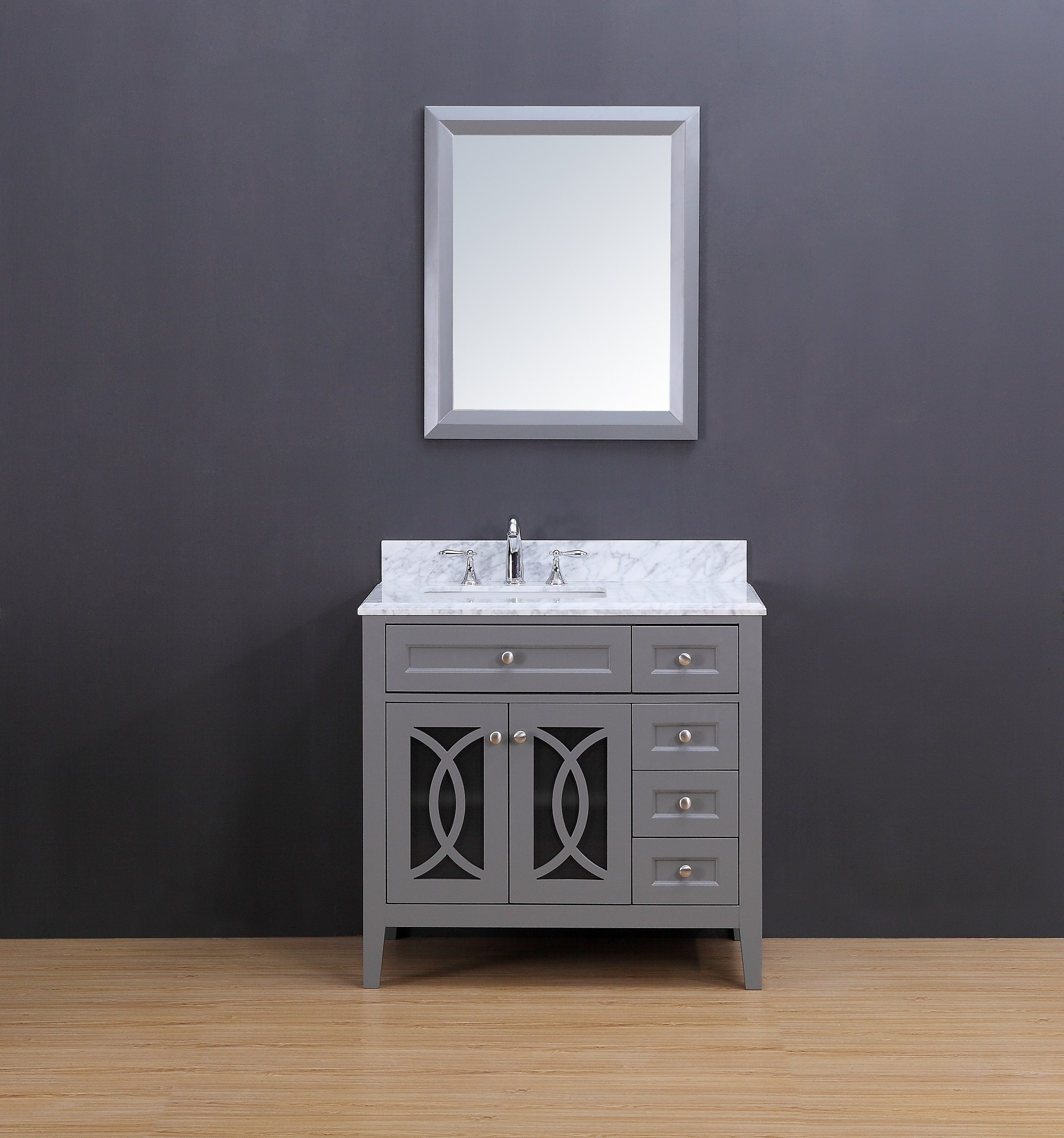 Rocca Transitional Bathroom Vanity Set