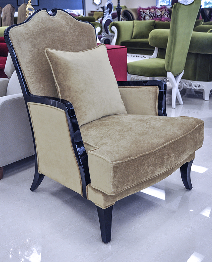 Accent chair living room chair sharla for Living room with accent chairs