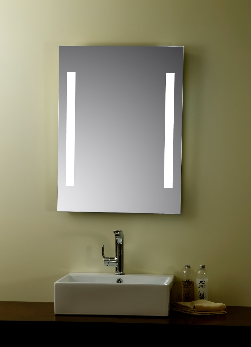 Livorno lighted vanity mirror led bathroom mirror for Bathroom vanity mirrors