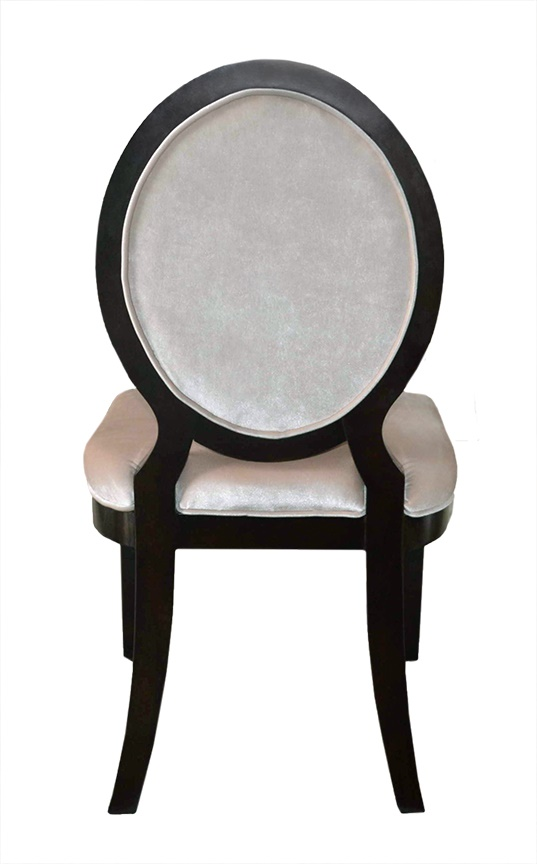 Click To See Larger Image · Charlotte Modern Oval Back Dining Chair