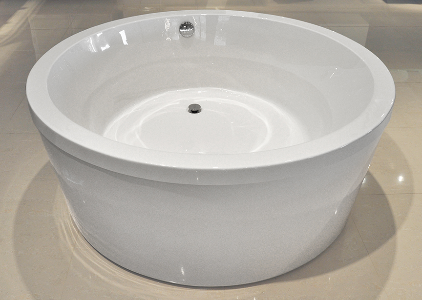 Click To See Larger Image. Pasiano Freestanding Soaking Round Bathtub 60