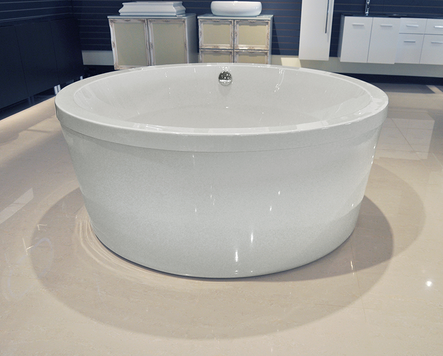 Click To See Larger Image Pasiano Freestanding Soaking Round Bathtub 60