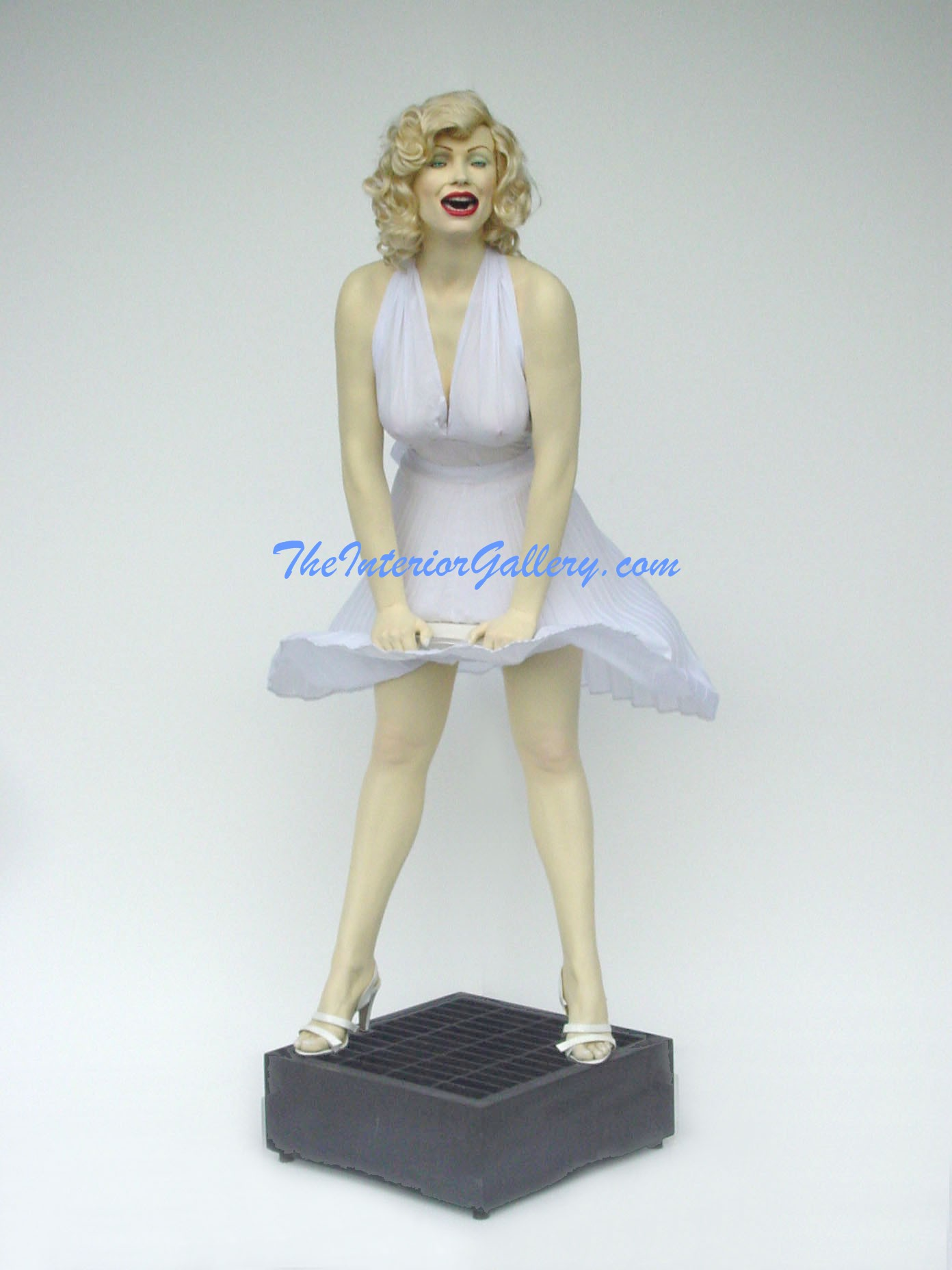 Actress Life Size Statue Real in White Dress 6FT