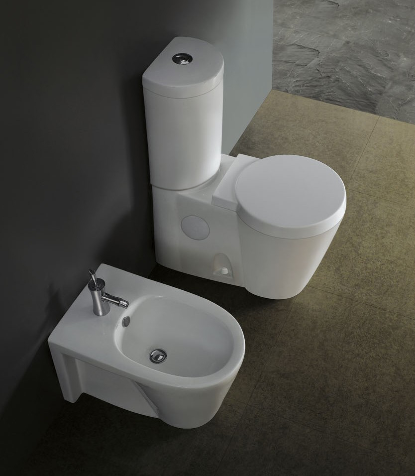 Aversa modern bathroom toilet for Modern toilets for small bathrooms
