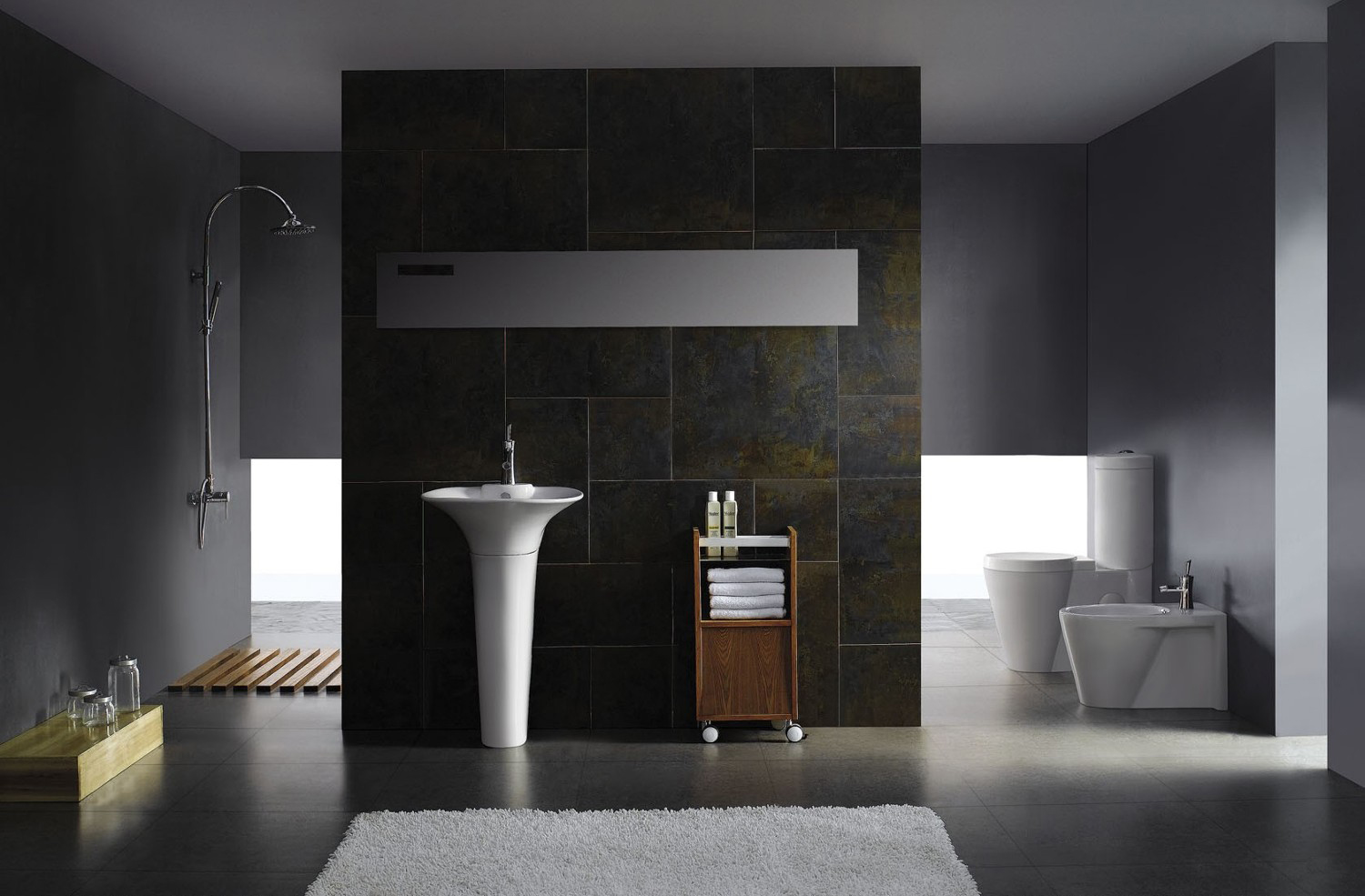 Aversa modern bathroom toilet for Modern washroom designs