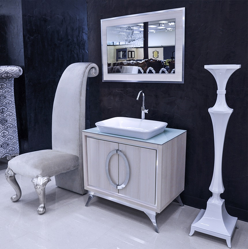 Modern bathroom vanity set cristana ii single sink Bathroom sink and vanity sets