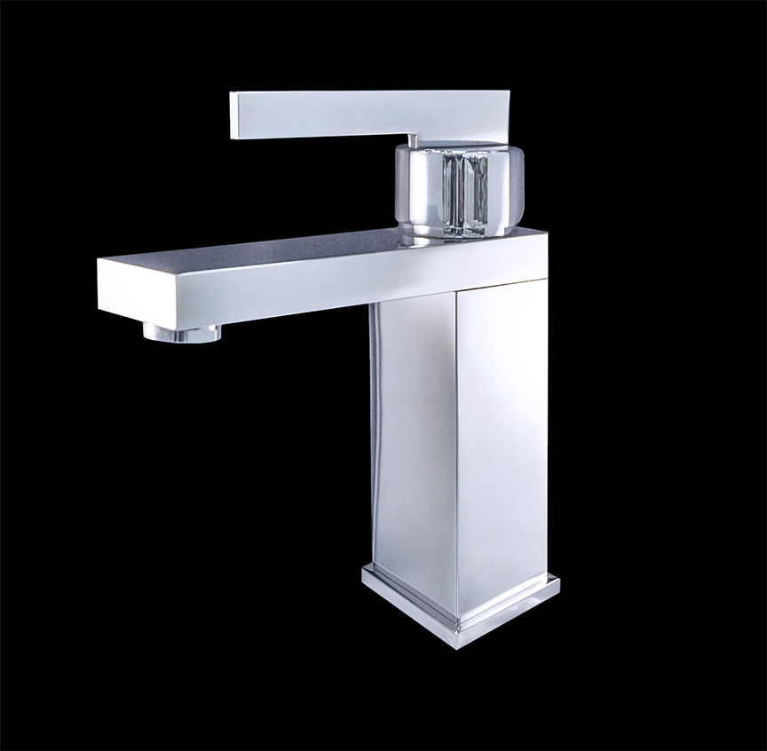 Costa I Chrome Finish Modern Bathroom Faucet