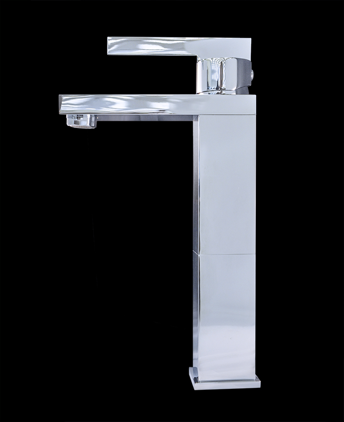 Costa II Chrome Finish Modern Bathroom Faucet