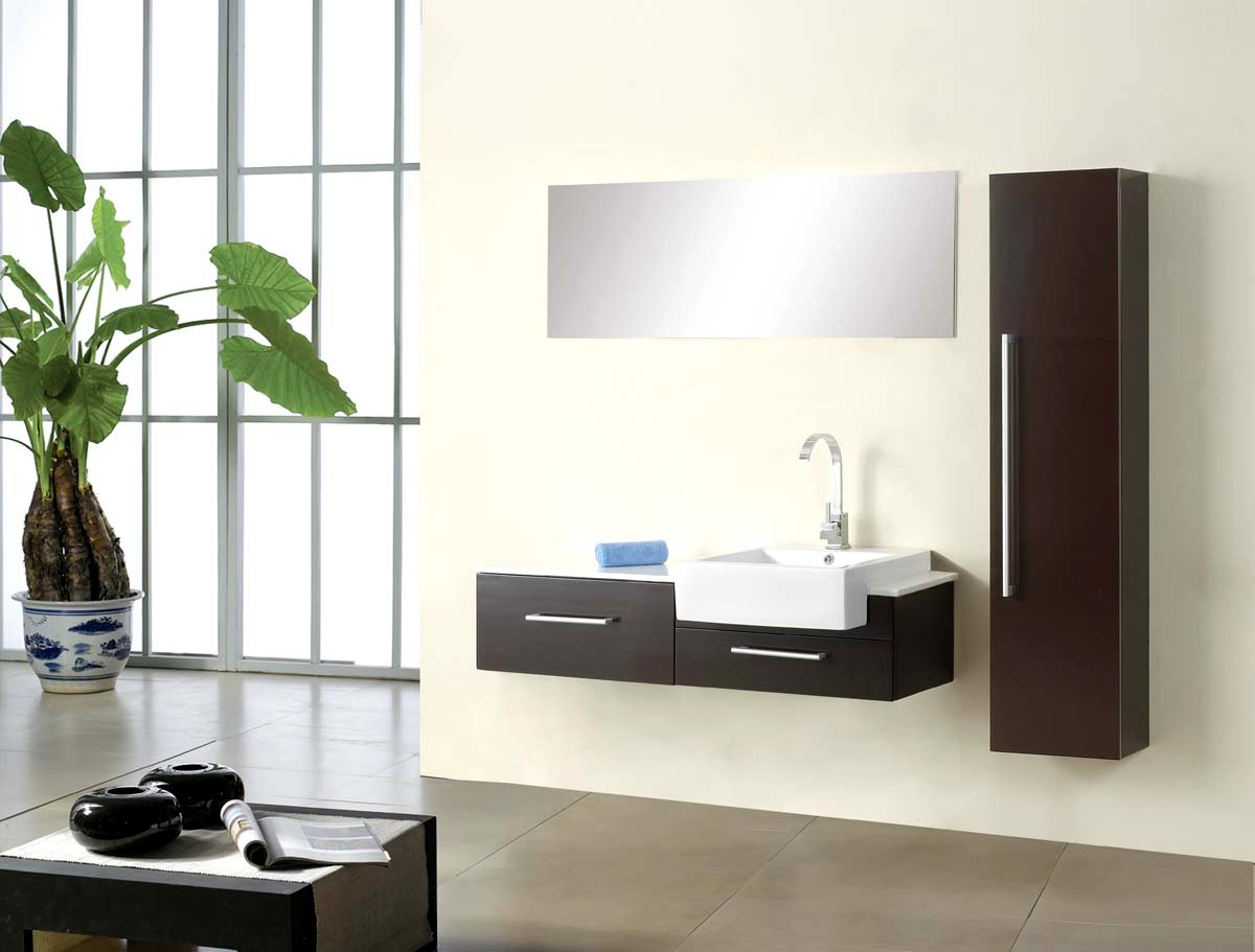 Modern bathroom vanity allure for Bathroom cabinets modern