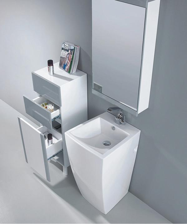 Modern Pedestal Sinks For Small Bathrooms : ... altier modern bathroom pedestal sink the altier porcelain modern