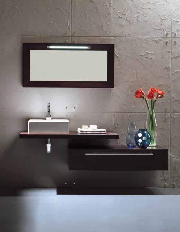 Monte Carlo II Modern Bathroom Vanity Set 48 Inch Cool Contemporary Bathroom Sinks Design