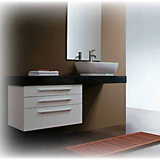 Modern bathroom vanity aramis for Contemporary bathroom sinks and vanities