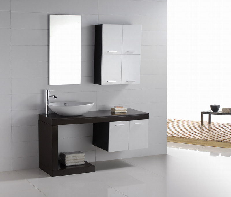 Modern bathroom vanity aria for Bathroom cabinets modern