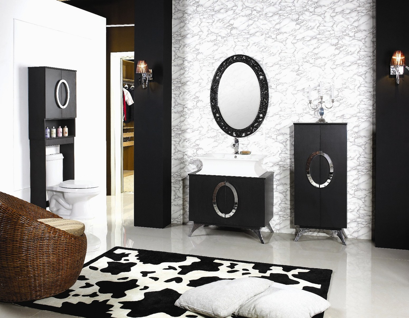 Black and White Modern Bathroom