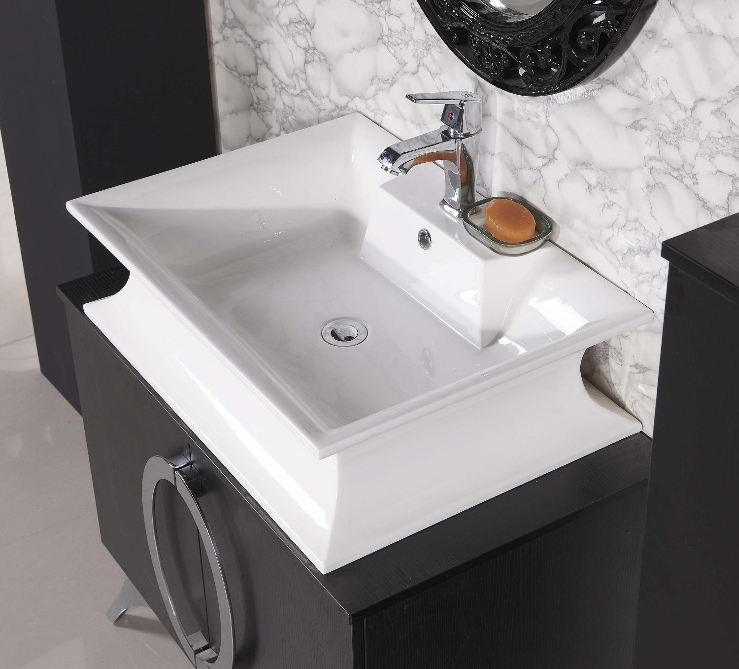 Modern bathroom vanity paris iii - Designer sink image ...