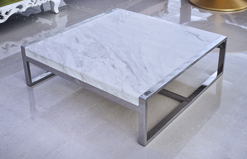 Enna i marble coffee table volakas Stone coffee table