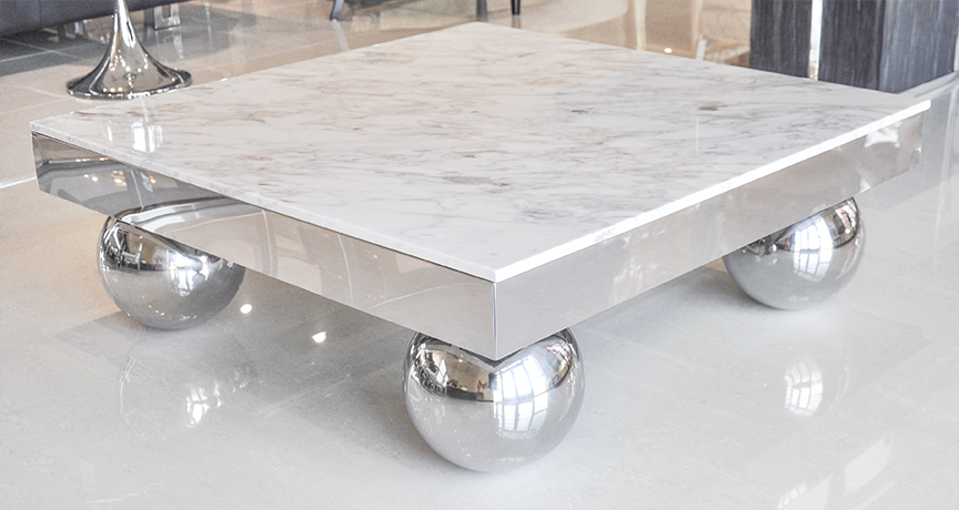 Marble coffee table lombardia coffee table for Grey marble coffee table set