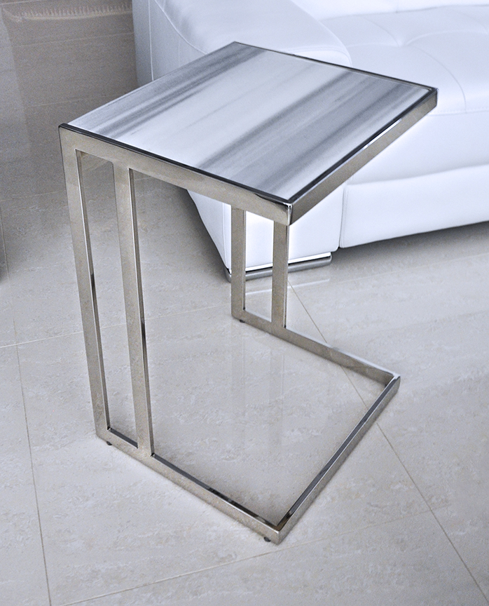 Z Gallerie Marble Coffee Table: Pollenza Modern End Table