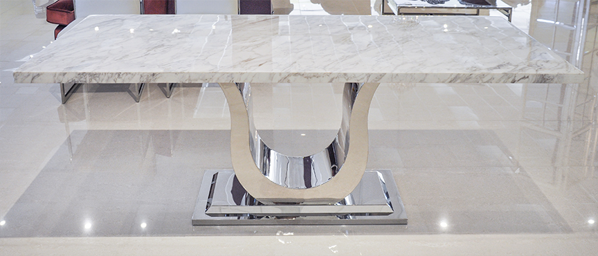 Uscio IV Marble Dining Table White Volakas : Modern Dining Table Uscio II Volakas 2 from www.theinteriorgallery.com size 864 x 370 jpeg 263kB