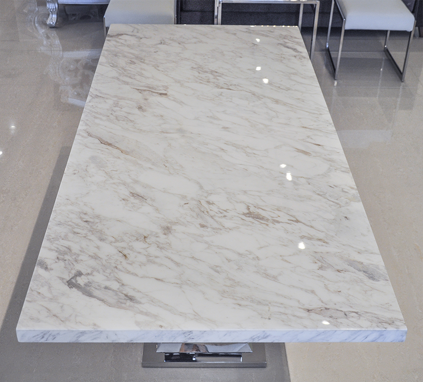 Uscio Iv Marble Dining Table White Volakas