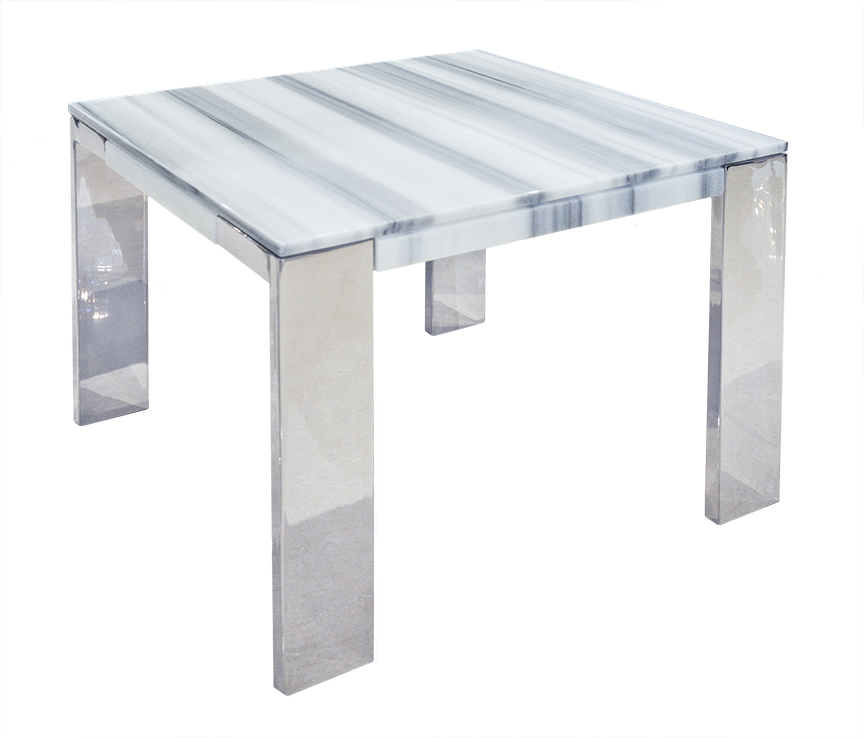 Laterza II Marble End Table   White Lines