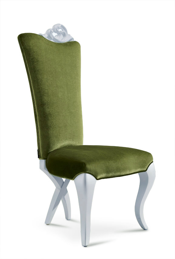 chloe modern dining chair green velvet On modern velvet dining chairs