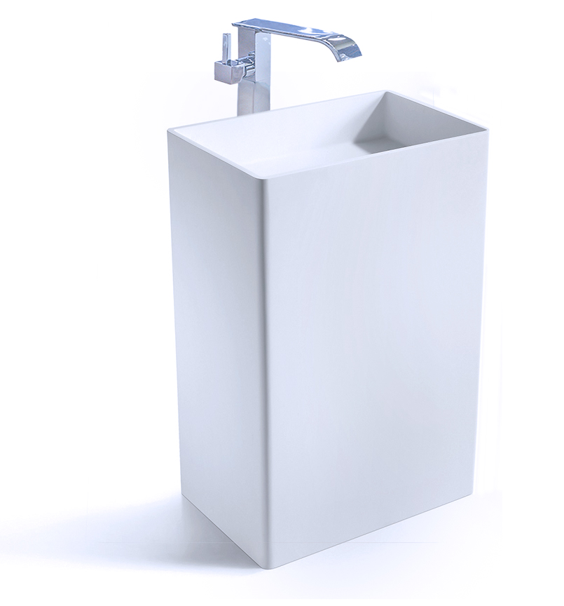 moderno designer pedestal sink solid surface sink cadeo ii tweet