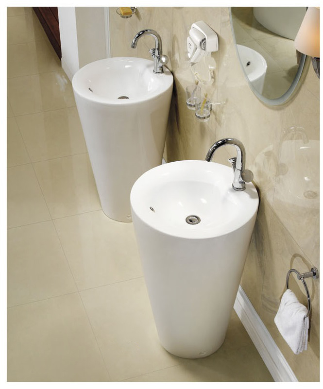 Modern Pedestal Sinks For Small Bathrooms : Modern Pedestal Sink - Contemporary Pedestal Sink - Ferrara