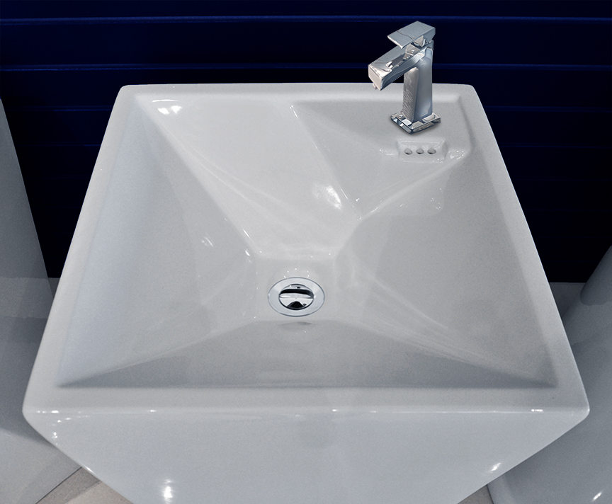 ... maccione modern bathroom pedestal sink the maccione porcelain modern