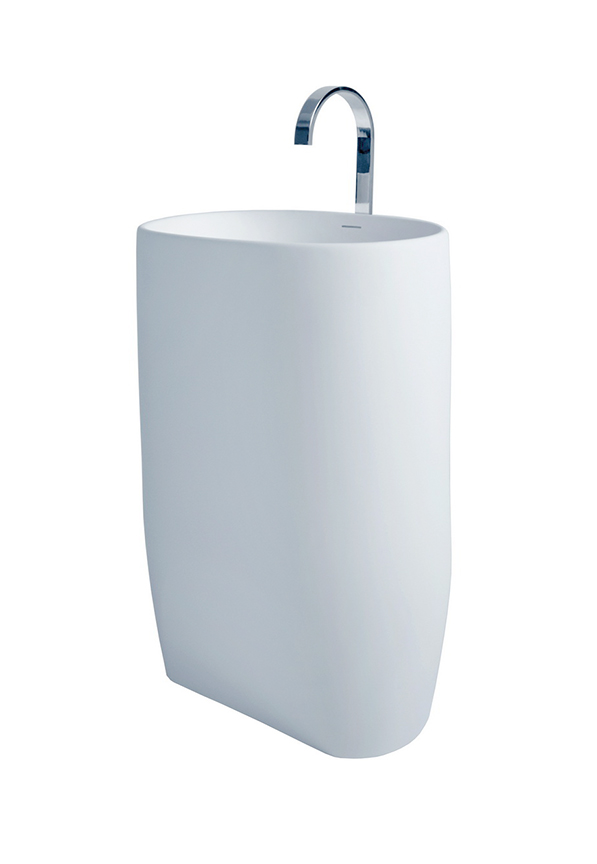 nurri modern bathroom pedestal sink cast stone 21 6