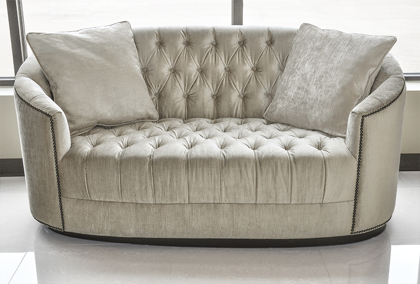 Click To See Larger Image Tufted Sofa