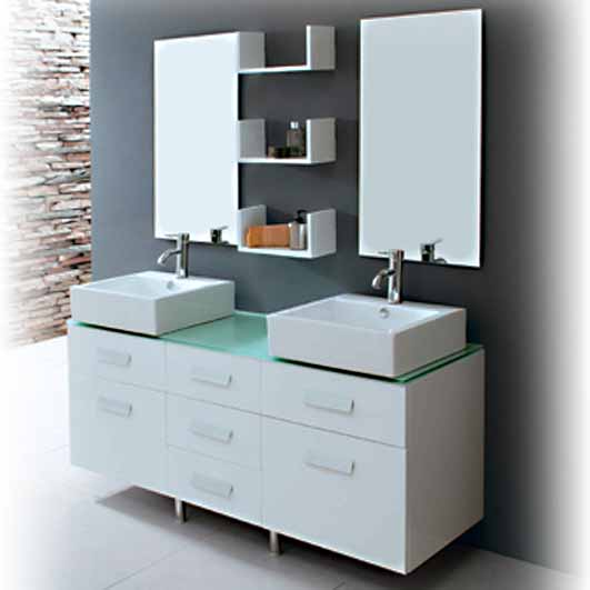 trendy bathroom furniture and decoration idea by regia