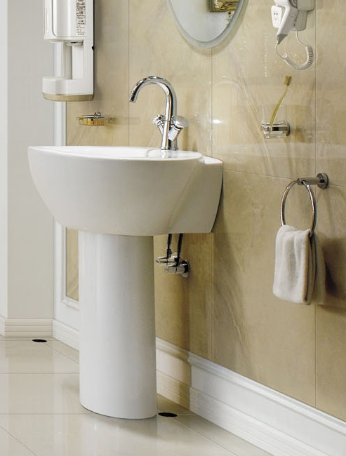 Ordinaire Modern Bathroom Pedestal Sink   Varazze